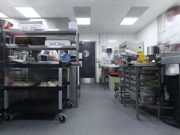 Clean wall cladding system devon exeter healthcare kitchen easy wipe clean