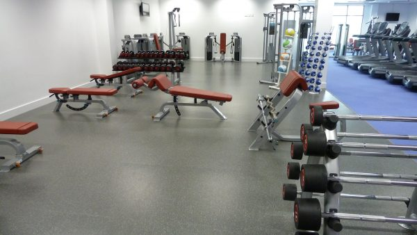 Gym Flooring in Plymouth Life Centre